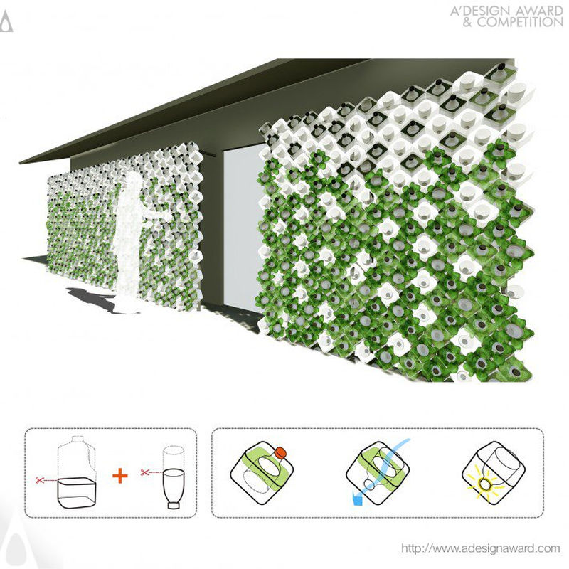 Urban Green Light sustainable facade installation by I-Ting Chuang & Jeanne Lee