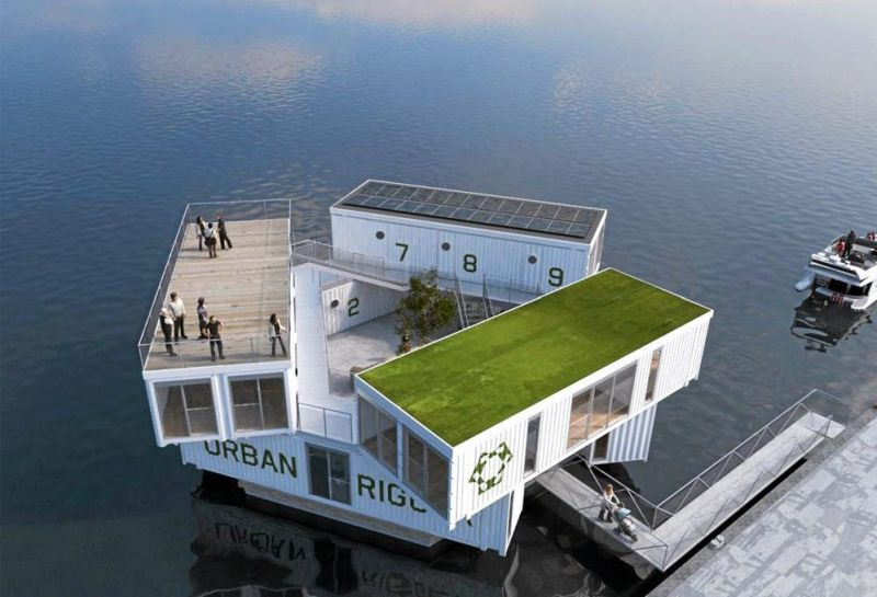 Urban Rigger-Floating Shipping Container home