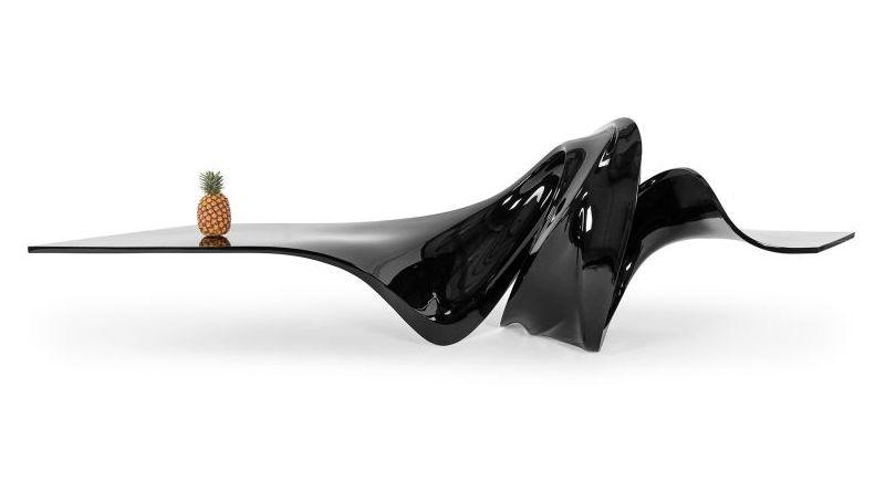 Zaha Hadid's le-a coffee table mimics Star Wars princess Leia's side bun