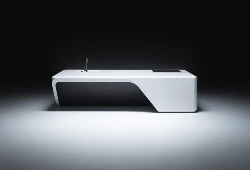 Zaha Hadid Architects designs Cove custom kitchen island for Boffi