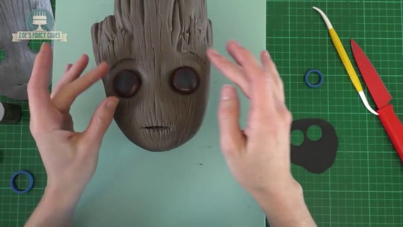 Groot Shaped Cake Inspired By Guardians Of Galaxy Vol 2