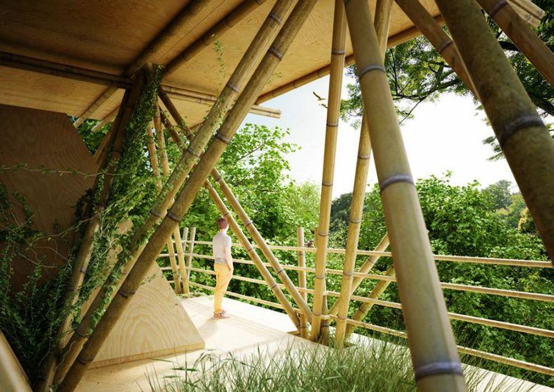 Modular bamboo hotel