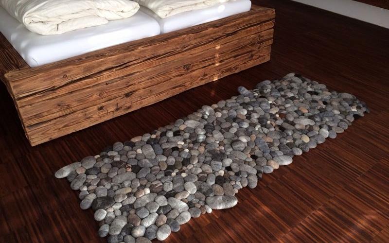 Amazing Felt Rugs that look like river cobbles