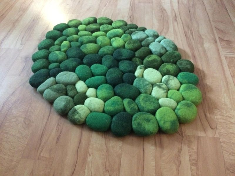 Amazing Felt Rugs That Look Like River Cobbles