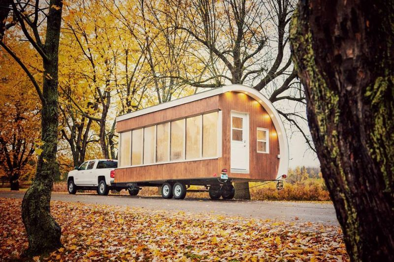 Solar digital pod, Lab pod, Pod, MadeMill, Ottawa's prototypeD, solar pod, Tiny homes, Office home, House on wheels, solar-powered