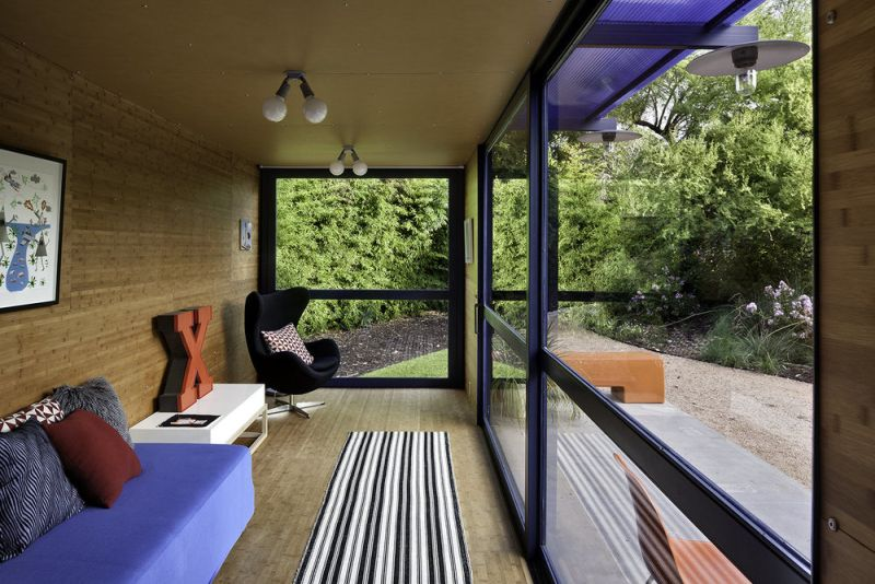 Guest house from shipping containers