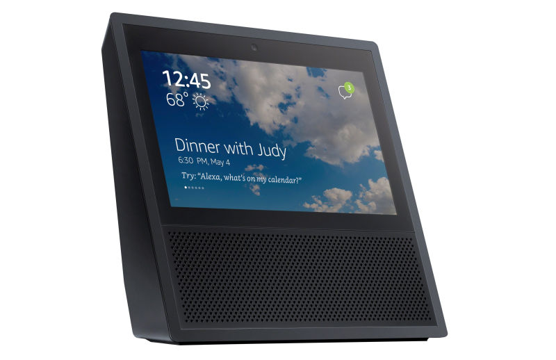 touch-screen Amazon Echo smart speaker