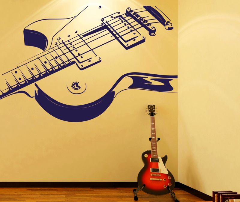 Guitar wall art music themed wall paintings