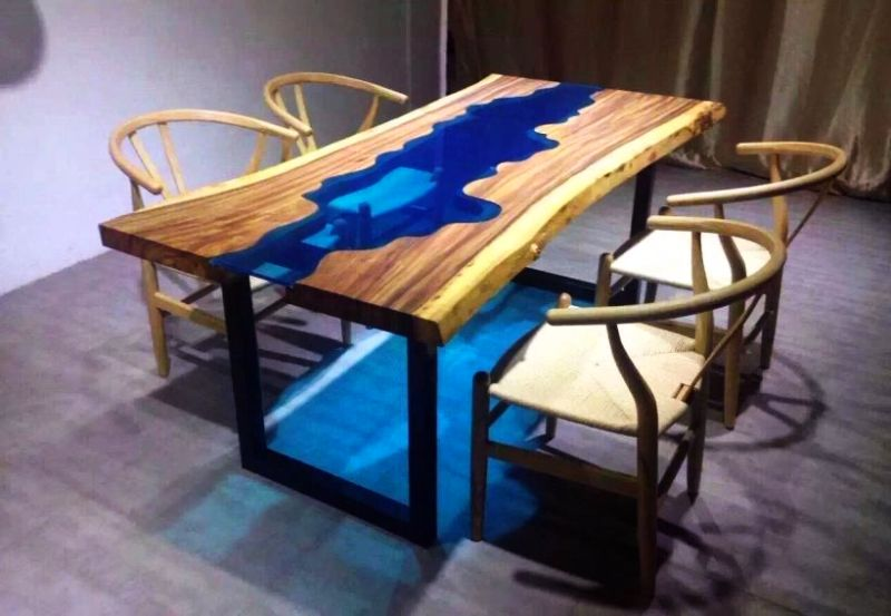 The 15 most unique river tables : 10Acacia Live Edge River Wood Glass Dining Table from www.homecrux.com size 800 x 553 jpeg 59kB