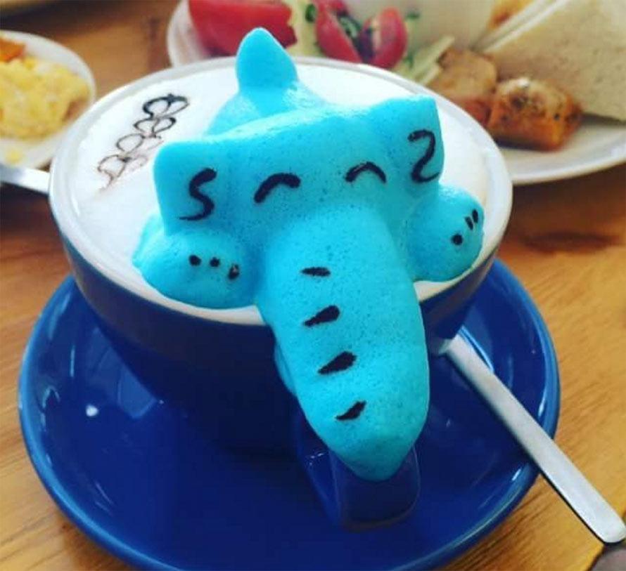 3D latte art by Leo's Espresso Group