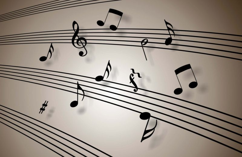 Musical-themed wallpaper for walls