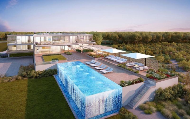 Hampton's $45 million dream home comes with a swanky transparent pool
