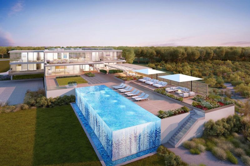 Hampton s 45 million dream home comes with a swanky for Pool design hamptons