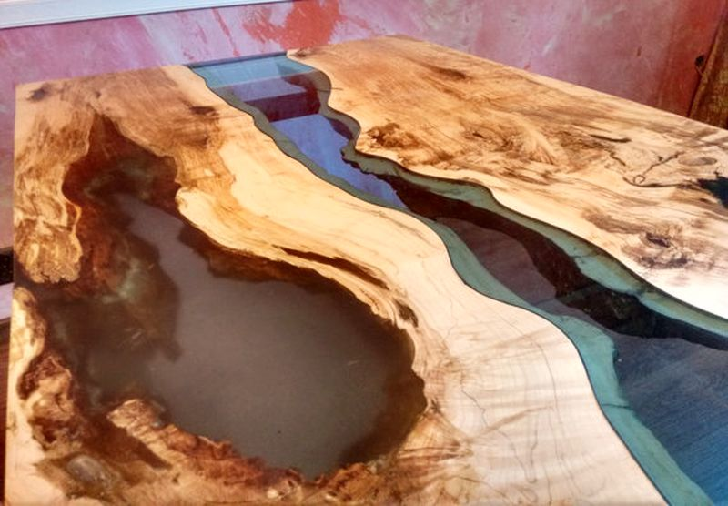 Live edge river table Blue Valley