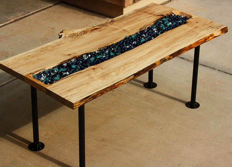 Anchors Cross River coffee table.