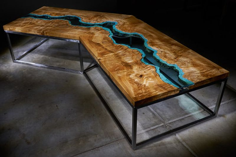 22 Unique River Tables To Beautify Your Living Room