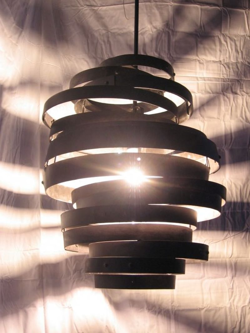 Barrels Hoop Lamp Madr From Old Wine Barrel