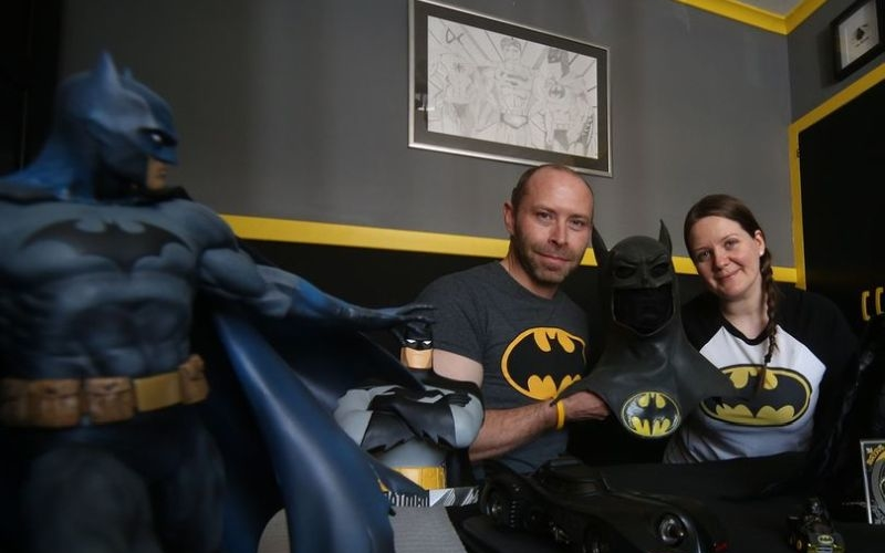Batman fan Steve Smith's home is living shrine to all superheroes