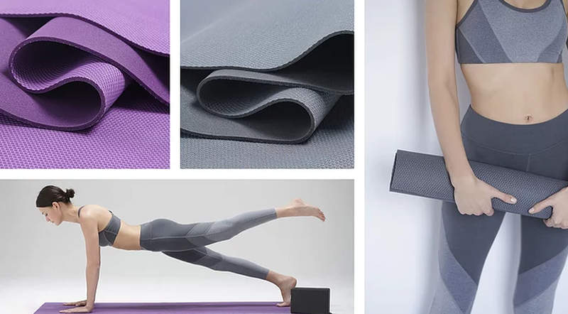 Blank self-cleaning yoga mat with silver antimicrobial technology