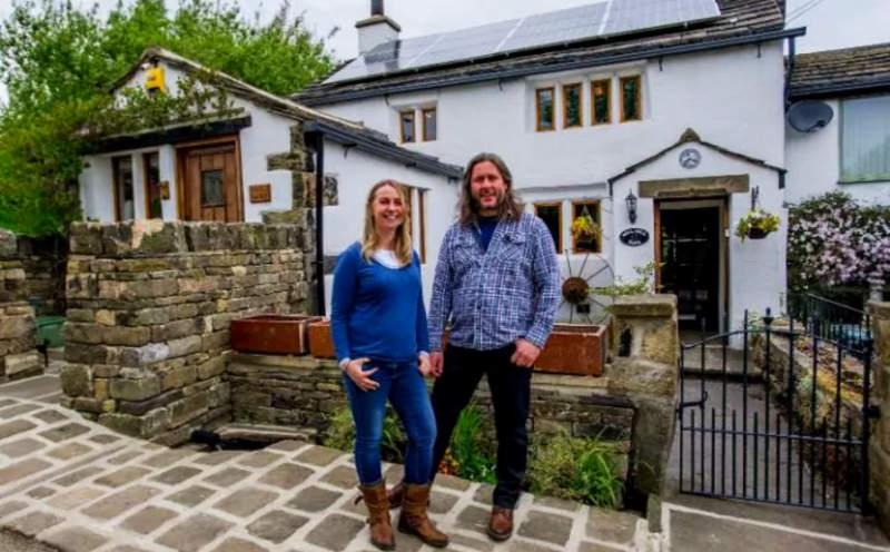 semi-detached, stone-built cottage