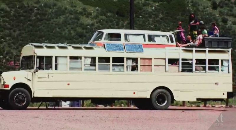 Family lives off fully-furnished bus home, turns life into one big road trip