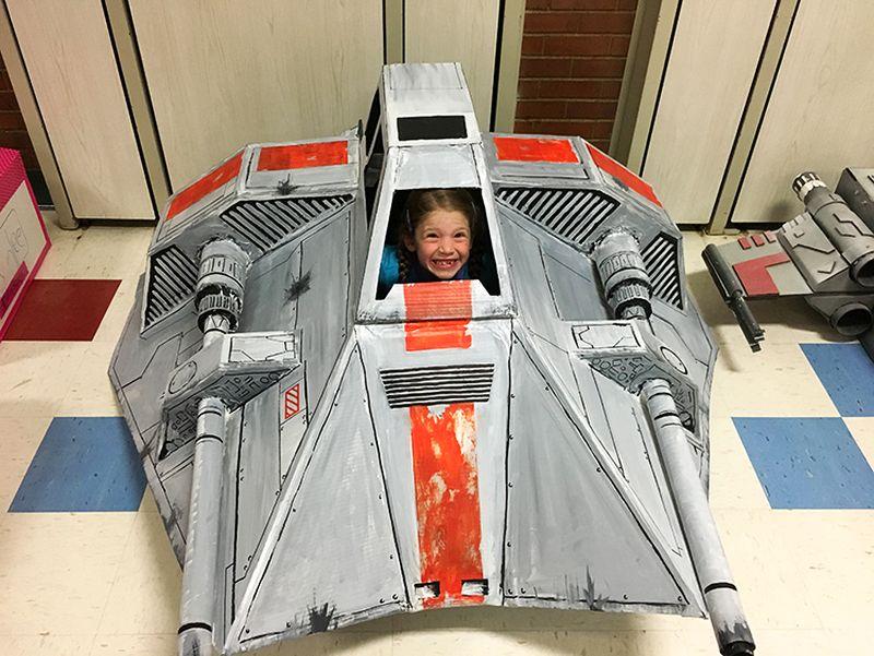 Cardboard Star Wars Snowspeeder