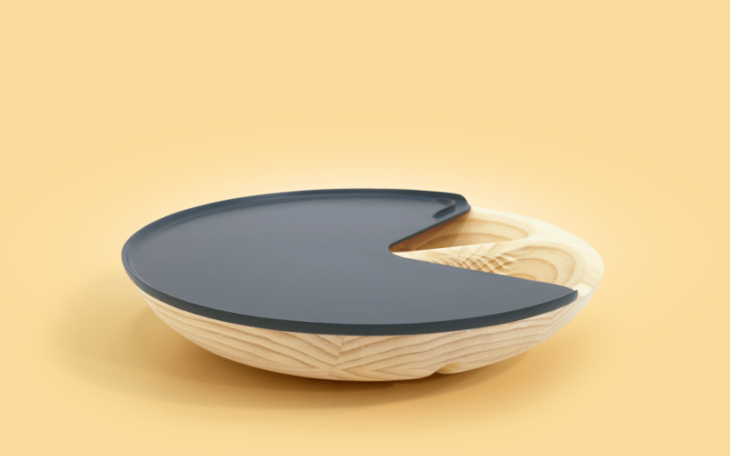 Cilla: Bowl-shaped table also functions as storage unit & drying rack