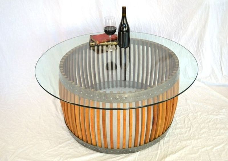 Coffee-table-made-from- old wine-barrel