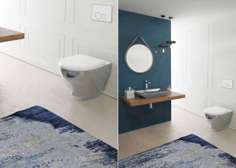 Isvea redefines bathroom collection with splendid metallic for Bathroom 94 percent