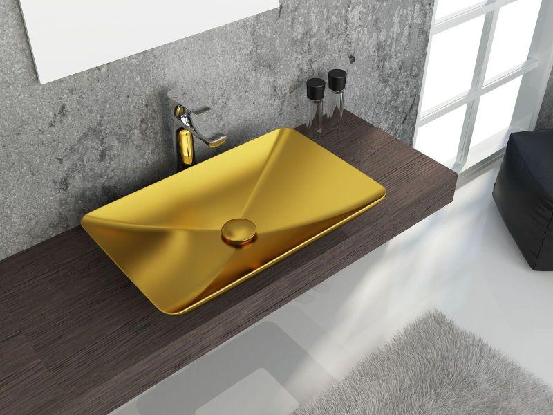 ColorISVEA metallic bathroom accessories.