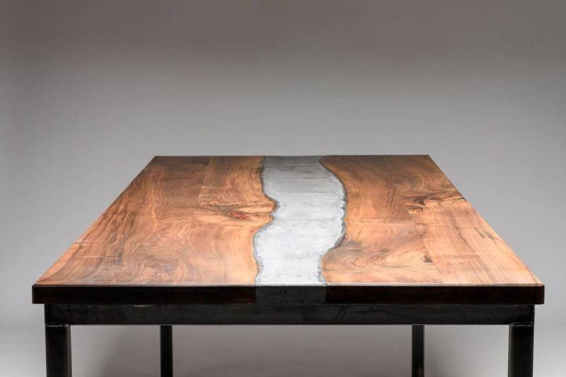 Concrete river table
