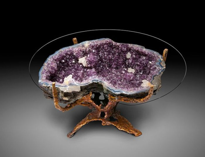 Magnificent Amethyst Crystal Table Homecrux Home Interior And Landscaping Ferensignezvosmurscom