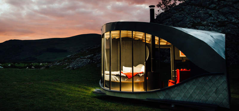 Welsh Countryside Welcomes Eight Pop Up Glamping Cabins