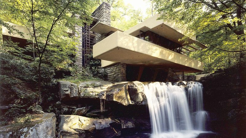 Celebrating Frank Lloyd Wright's 150th birthday with his famous architectures
