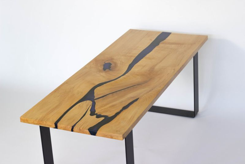 22 unique river tables to beautify your living room. Black Bedroom Furniture Sets. Home Design Ideas