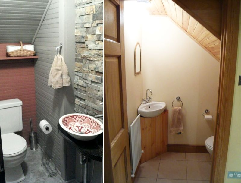 Guest bathroom under the stairs