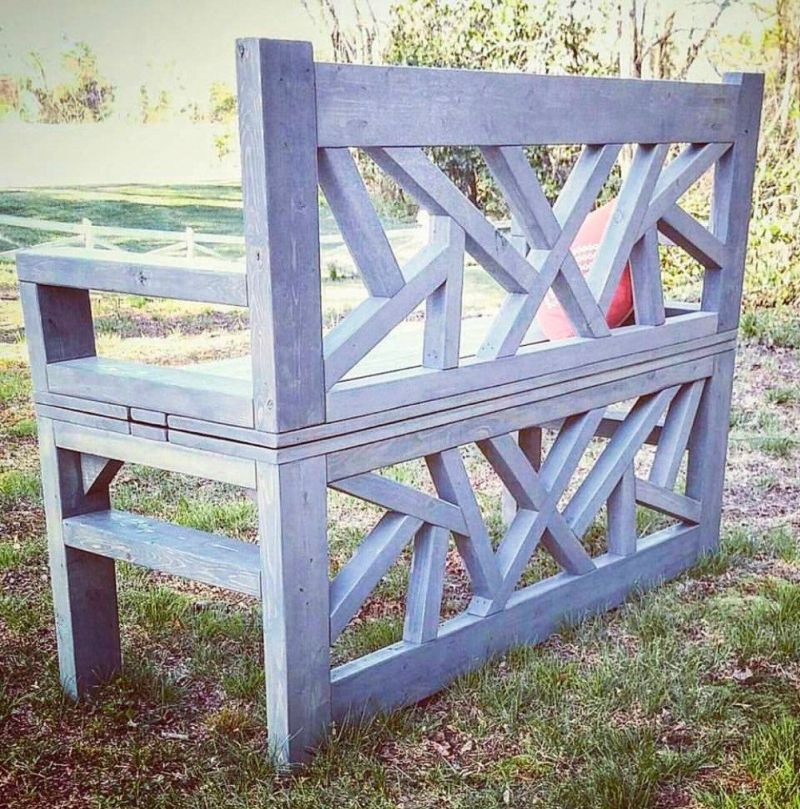 Handmade outdoor bench- coffee table
