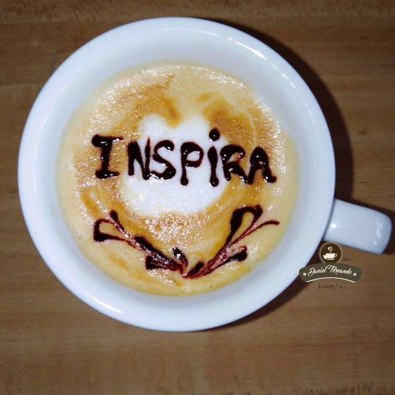 Letters latte art