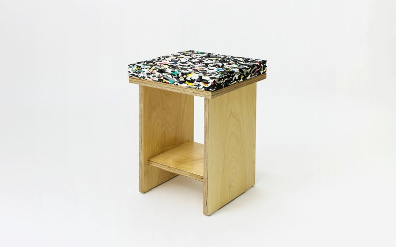 Marble Stool by Davide Aquini is deceptively soft and comfortable