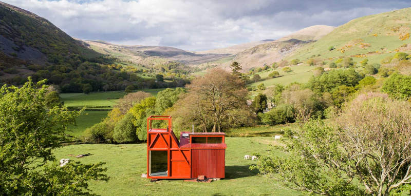 Welsh countryside welcomes eight pop-up glamping cabins