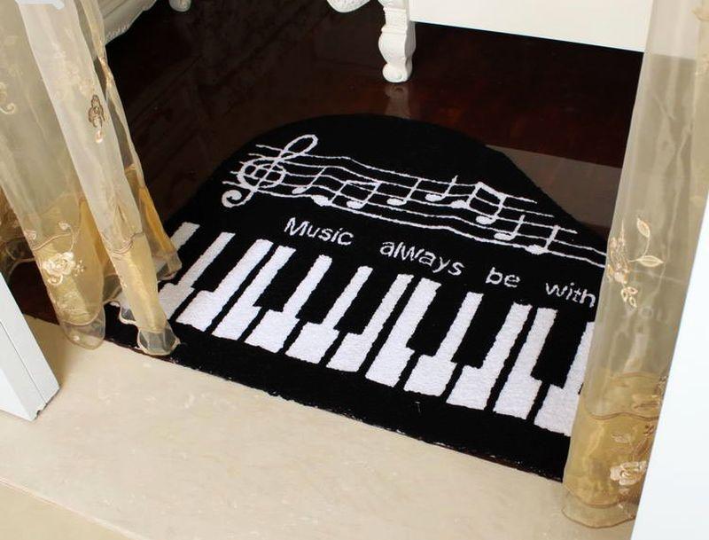 Music-themed floor rugs