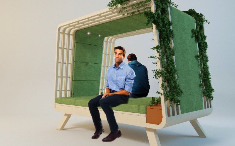 Nido: Multifunctional nest-like shelter with hydroponic garden