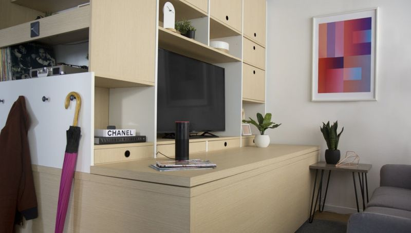 Ori systems space saving modular furniture is a glimpse of - Boston interiors clearance center ...