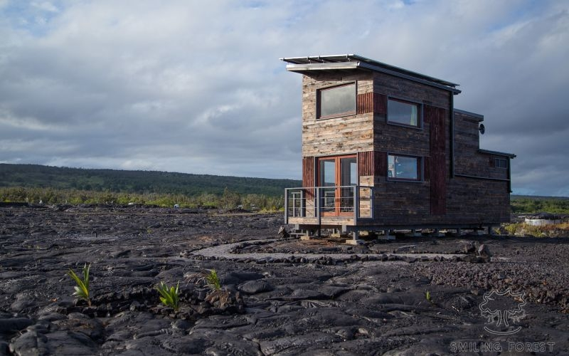 Living by the world's most active volcano in an off-grid home with modern amenities