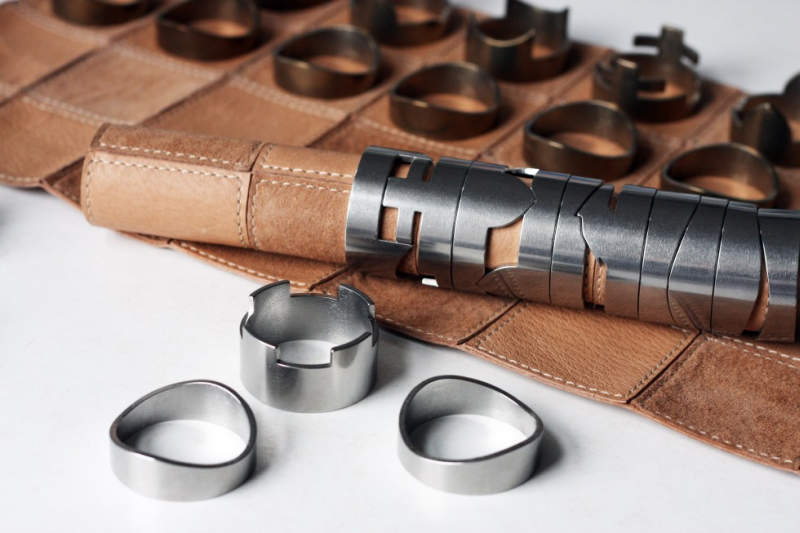 Raw Studio's portable leather chess set