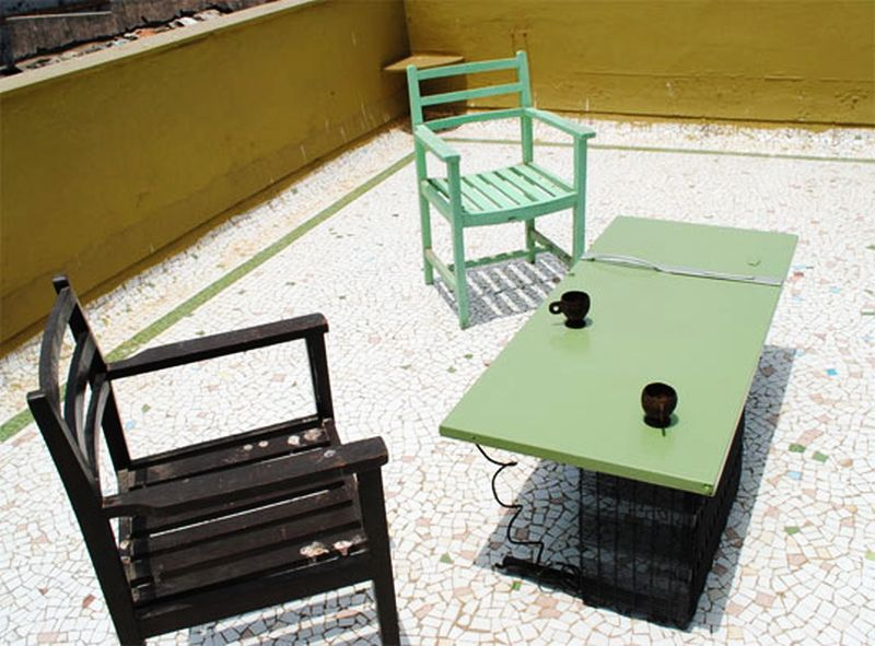 Refrigerator Door Table for outdoors