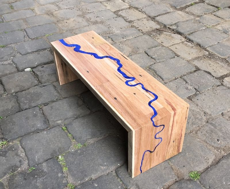 River Thames coffee table from The Timber Shack