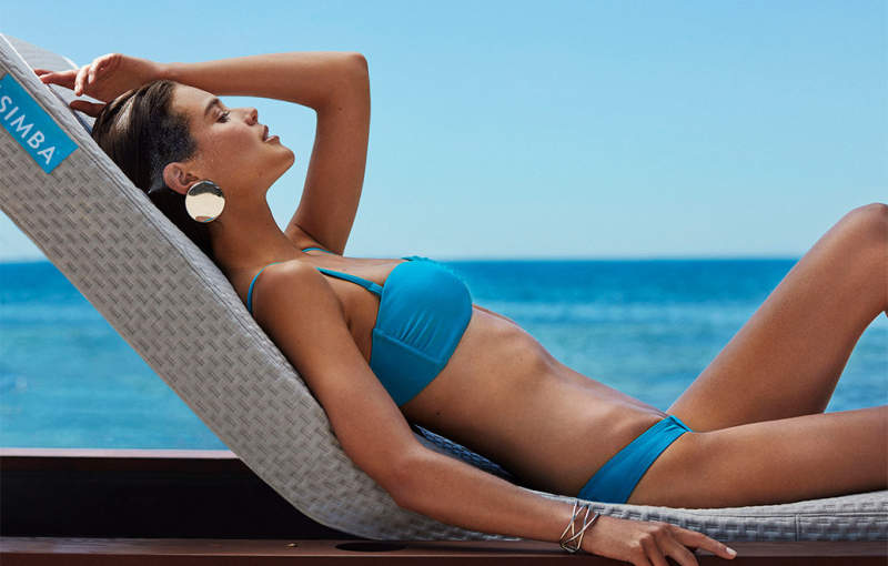 Show-off your style at beach with Simba Blue sun lounger