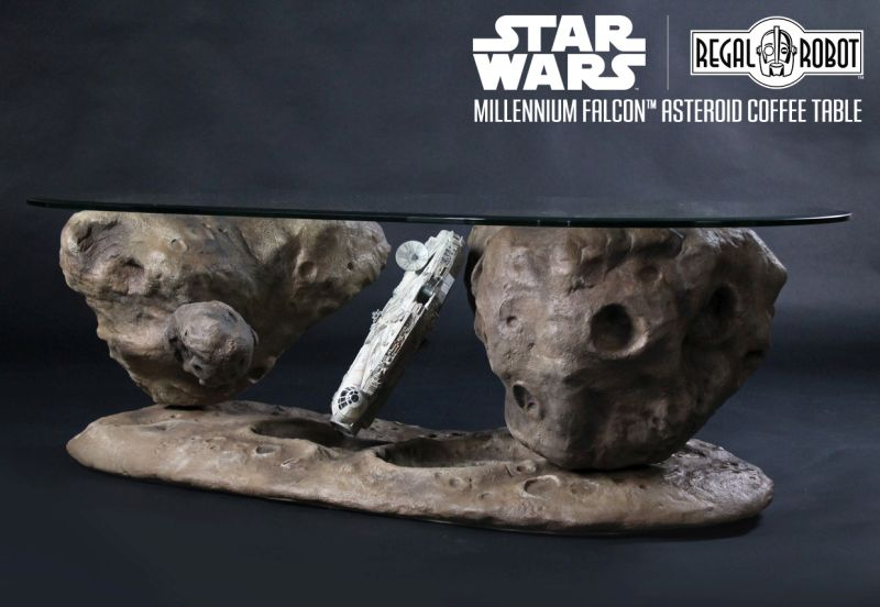 Millennium Falcon Asteroid Coffee Table fit for Star Warsthemed