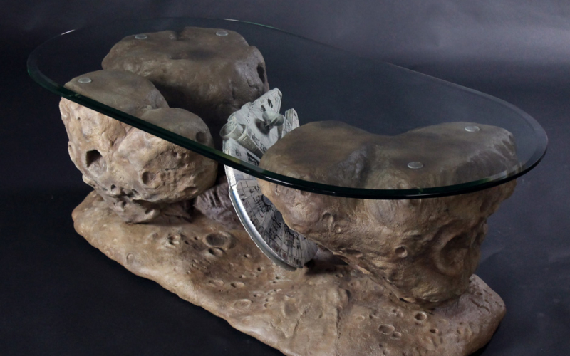 Millennium Falcon Asteroid Coffee Table fit for Star Wars-themed interiors